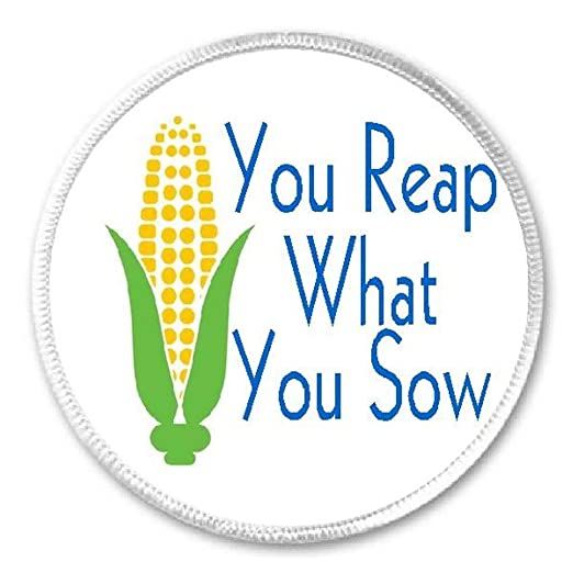 Amazoncom You Reap What You Sow Corn Husk 3 Sew Iron On Patch