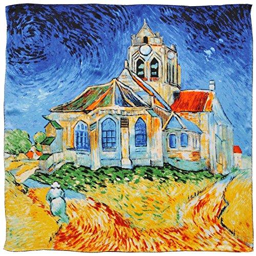 De D'auvers Gogh Van Silkart L'église 85x85 Soie Carré Cm pw4gqdp