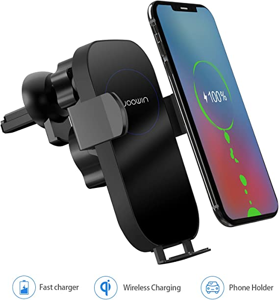 Wireless Car Charger Mount Air Vent Cell Phone Holder for iPhone Xs Max//Xs//XR//X//8//8plus Samsung Galaxy Note9//Note8//S10//S9//S8//S7//S6 Infrared Auto Clamping Qi Fast Charging 10W 7.5W 5W Car Mount