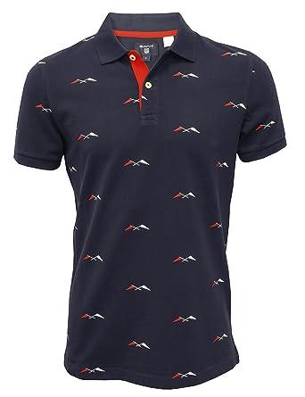Gant Banderas Allover Impresión Camisa De Polo De Los Hombres ...