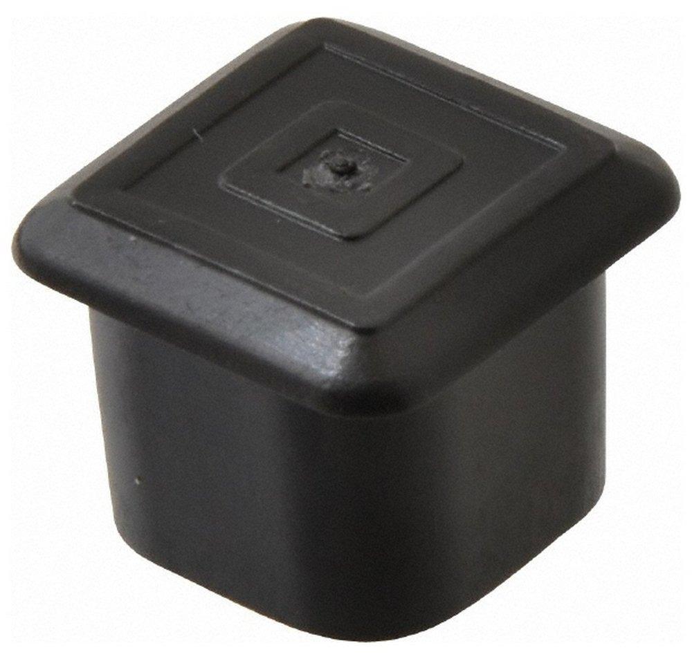 Square Head Plug, 3/4 OD, Polyethylene, Black 100 Pack