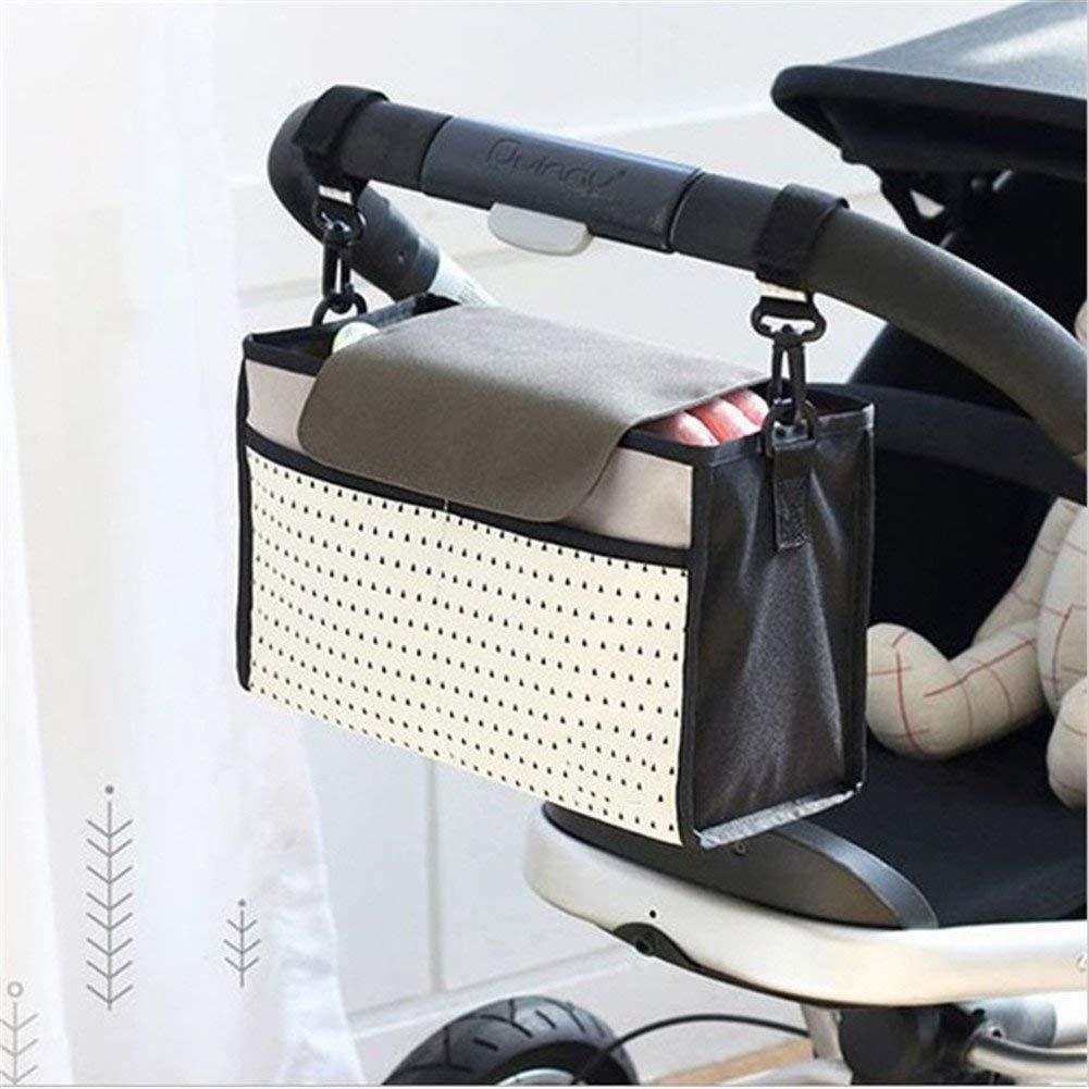 LHKJ Baby Stroller Organiser Bag,Diaper Bag Waterproof Hanging Storage for Carrying Bottles ,Toys and Snacks