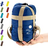 ECOOPRO Warm Weather Sleeping Bag - Portable, Waterproof, Compact Lightweight, Comfort with Compression Sack - Great for Outd