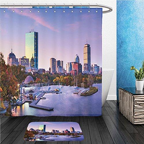 Beshowereb Bath Suit: ShowerCurtian & Doormat boston massachusetts usa skyline - Macy's Boston