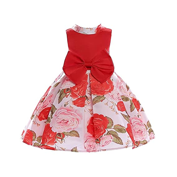 836aa7a67 Vestido de niñas,❤️ Manadlian Vestido Boda Fiesta con Flores para Niña  Vestido Princesa para Chica 3-8 Años