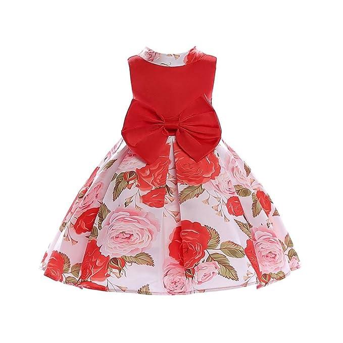 Vestido de niñas Vestido Boda Fiesta con Flores para Niña Vestido Princesa para Chica 3-8 Años