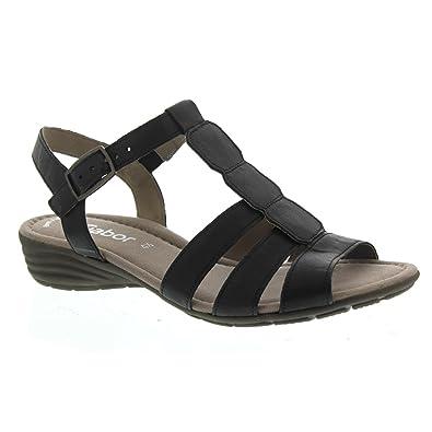 Gabor Damen Sandaletten 24.558.57 schwarz 442727  Amazon.de  Schuhe ... 4109b315d9
