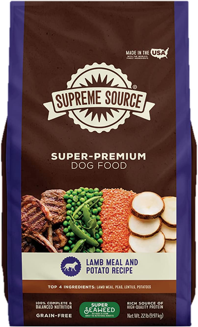 Supreme Source Premium Dry Dog Food Grain Free, USDA Organic Seaweed, Protein, Made in The USA.