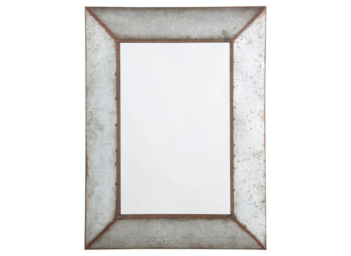 Ashley Furniture Signature Design - O'Talley Metal Framed Accent Mirror - Industrial Design - Vertical Only - Antique Gray Signature Design by Ashley A8010020