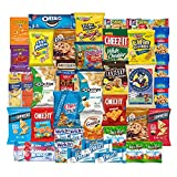Care Package Snacks for College Students, Finals, Office, Christmas and Back to School - Including Over 3 lbs of Chips, Cookies and Candy! (40 Count)