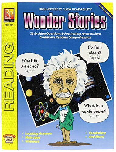 (Remedia Publications REM467 Reading Level 2 Wonder Stories Book, 8.5