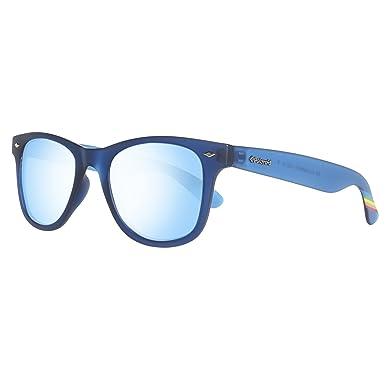 abac7974a7d Polaroid Sunglasses Pld6009ns Wayfarer Sunglasses Transparent Gray Blue  Mirror Polarized