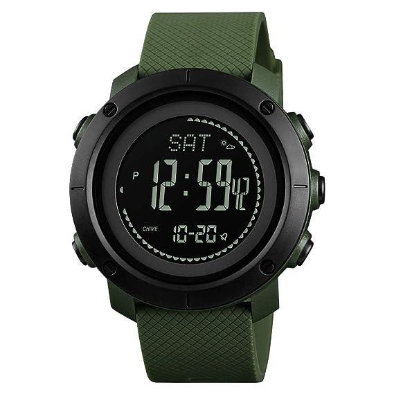 FeiWen Unisex Outdoor Militar Deportivo Digitales Brújula Relojes ...