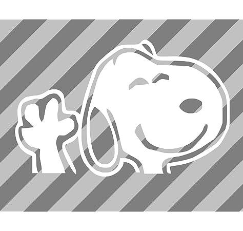 Snoopy Waving Hi White Sci-Fi//Comics//Giochi Automotive Decal//Bumper Sticker