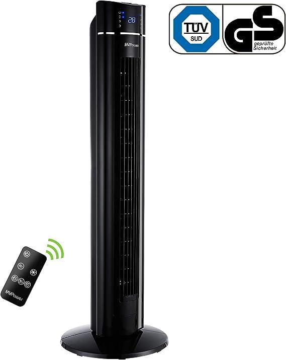 MVPower Ventilador de Torre Oscilante de 60 ° con Temporizador 8h ...