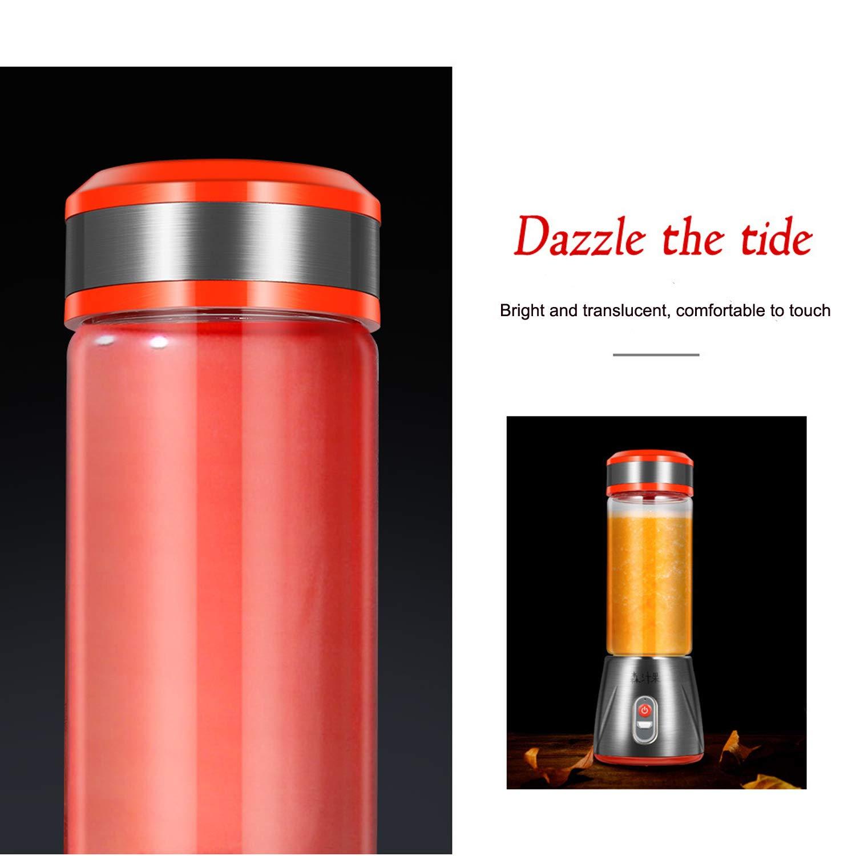 Spremiagrumi frullatore e frutta Mixer mini frullatore elettrico frullatore 2 bottiglie di succo di bottiglia di vetro e verdure portatili