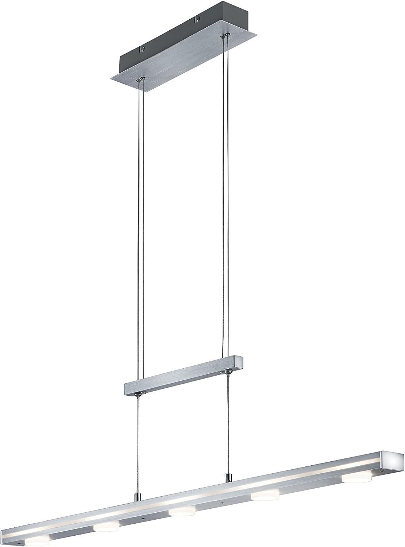 850x1.200mm h/öhenverstellbar teilsatiniertes Glas LED Pendelleuchte 1600 Lumen Esstischlampe Wohnzimmerleuchte Briloner Leuchten 18W LxH