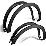 Ford F150 Styleside Factory Style 4pcs Paintable ABS Smooth Wheel Fender Flares (Black)