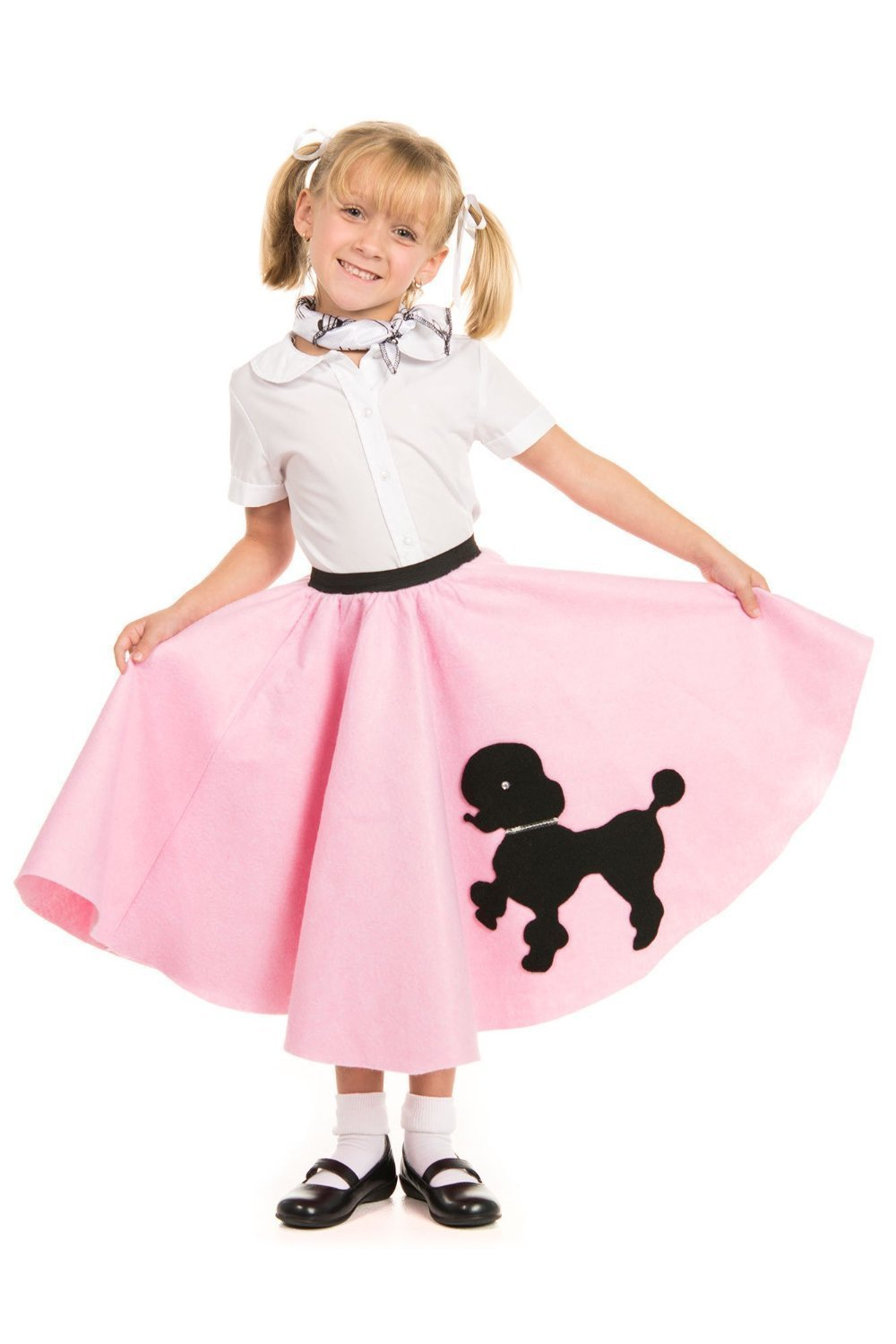 Kids 1950s Clothing & Costumes: Girls, Boys, Toddlers Poodle Skirt with Musical Note printed Scarf by Kidcostumes $14.98 AT vintagedancer.com