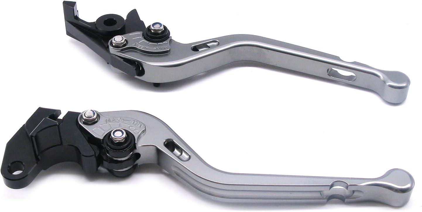 Titanium ECLEAR Moto Longue Frein et dembrayage reglables Leviers pour Suzuki GSR600 GSR750 GSXR1000 GSXR600 TL1000S