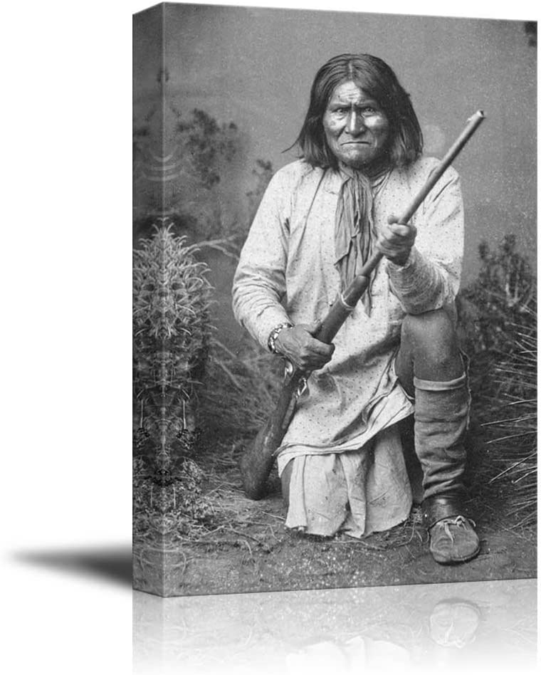 Magnificent Picture, Portrait of American Indian Chief Goyaale Geronimo Inspirational Famous People Series, With Expert Quality