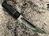 - by CooB - *YAKUT* UNIQUE Yakutian Steel CUSTOM HANDMADE KNIFE Bog Oak Sapphire