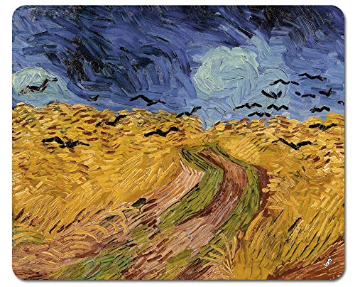 (Vincent Van Gogh Mouse Pad - Wheat Field with Crows, 1890 (9 x 7 inches))