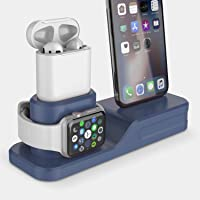 $21 Get Charging Stand, Coffea 3 in 1 Charging Station Compatible Apple Watch Series 4/3/2/1 Silicone…