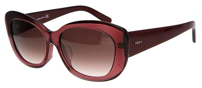 5335b2a865 Tod's Femmes Lunettes de soleil Bordeaux TO0142-F-5771Z: Amazon.fr ...