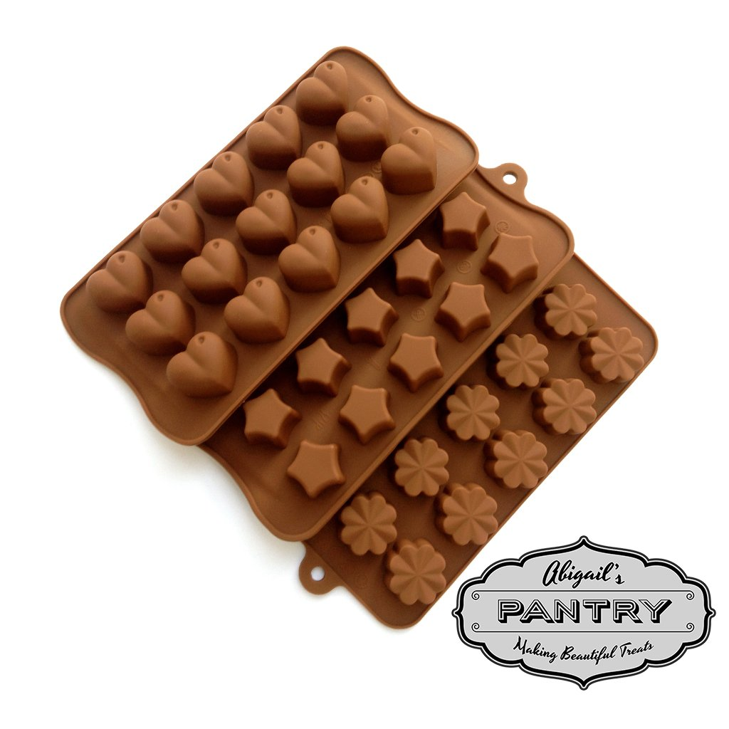 Amazon.com: Chocolate & Candy Molds - Set of 3 - Classic Edition ...