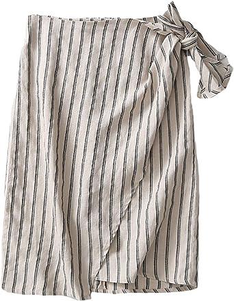 Insun Mujer Falda de Lino Faldas Recta Casual: Amazon.es: Ropa y ...
