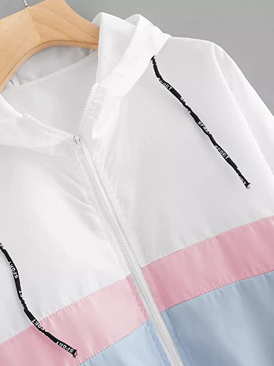 Amazon.com: YKA 2018 Womens Coat, Fashion Long Sleeve Patchwork Thin Skinsuits Hooded Zipper Pockets Sport Coat Students: Clothing