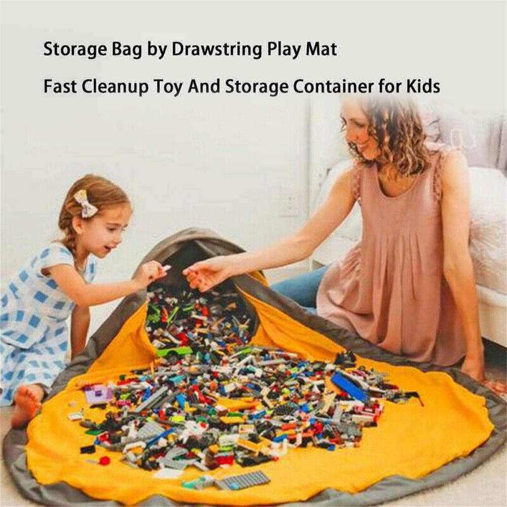 RZZAX Bolsa de Almacenamiento de Juguetes Kids Portable Toy Large Tidy Bag Alfombra para ni/ños Portable Kids Toys Organizer Storage Drawstring Bag Play Mat Tidy For Legos