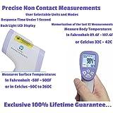 VitalTemp Non-Contact Thermometer Temperature Range from 89.0 to 107F Surface Temperature Sensor -58 to 500F