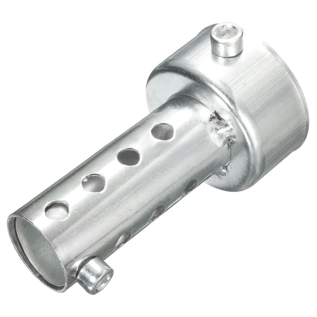 Cikuso Silver Motorcycle Exhaust Can Muffler Insert Baffle DB Killer Silencer 48mm x 140mm