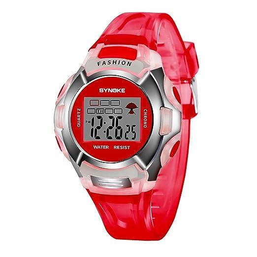 Kanpola Decoración Infantil Relojes,Children Boys Student Waterproof Sports Watch LED Digital Date Wristwatch: Amazon.es: Relojes