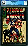 CAPTAIN AMERICA #100 cgc 9.0 First issue! 1968-BLACK PANTHER 1161748004