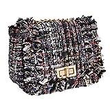 Best b.m.c Shoulder Bags - BMC Womens Cute Black Woven Style Texture Mini Review
