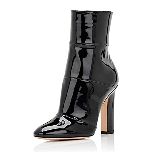 Pumps Ankle Boots For Women Booties Dress Shoes Block Chunky High Heels