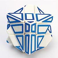 Cyndie 3x3 Skewb Cube Hollow Stickers Cubo Mágico con Base Creative Brain Teaser Ghost Cube