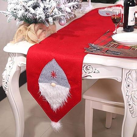 Sunneey Elegante atmósfera Camino de Mesa, Decoración navideña ...