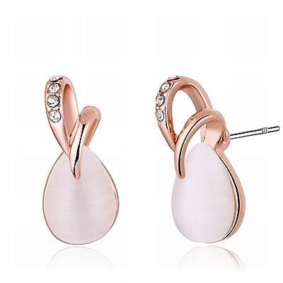 MOMO une Paire de Dames / en Acier Inoxydable / Anti-allergique / Argent Clignotant / Diamants Fashion Trendy Jewelry Drops Shape / Small Et Exquis