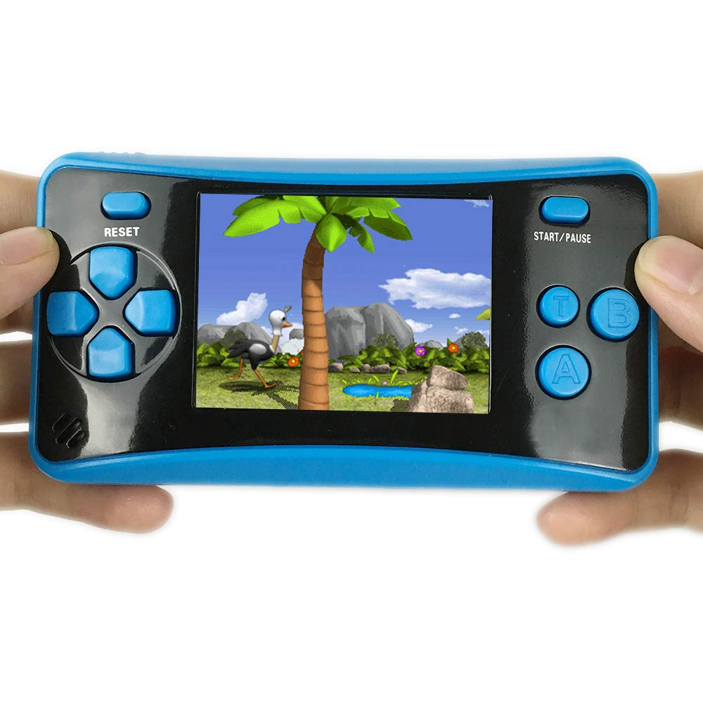HigoKids Handheld Game Console for Kids Portable Retro Video Game Player Built-in 182 Classic Games 2.5 inches LCD Screen Family Recreation Arcade Gaming System Birthday Present for Children-Blue by HigoKids (Image #3)