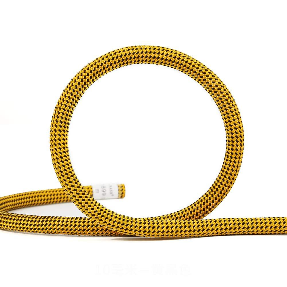 Diameter 10.5mm Escalade Corde Corde Jaune d'escalade de sécurité, Corde s'élevante d'équipement de Corde d'accessoire de Haute résistance extérieure pour la randonnée, Alpinisme 30m