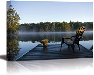 "Morning View at Weslemkoon Lake - Canvas Art Wall Decor - 24"" x 36"""