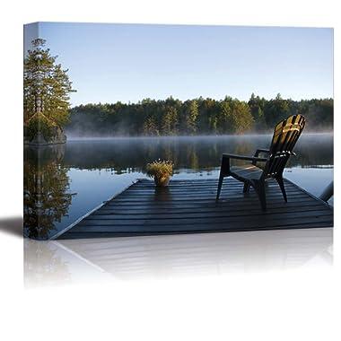 Morning View at Weslemkoon Lake - Canvas Art Wall Decor - 24  x 36