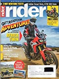 Rider March 2016 Magazine Motorcycling At It's Best GET READY FOR ADVENTURE! HONDA'S GP-ANYWHERE AFRICA TWIN Riding The Santa Fe Trail in Kansas