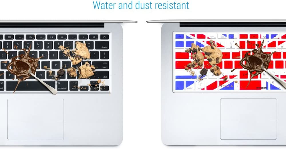 with or Without Retina Display UK Flag iBenzer MKC02UKFL Macaron Series Keyboard Cover for MacBook Pro 13 15 17 MacBook Air 13 and iMac Wireless Keyboard