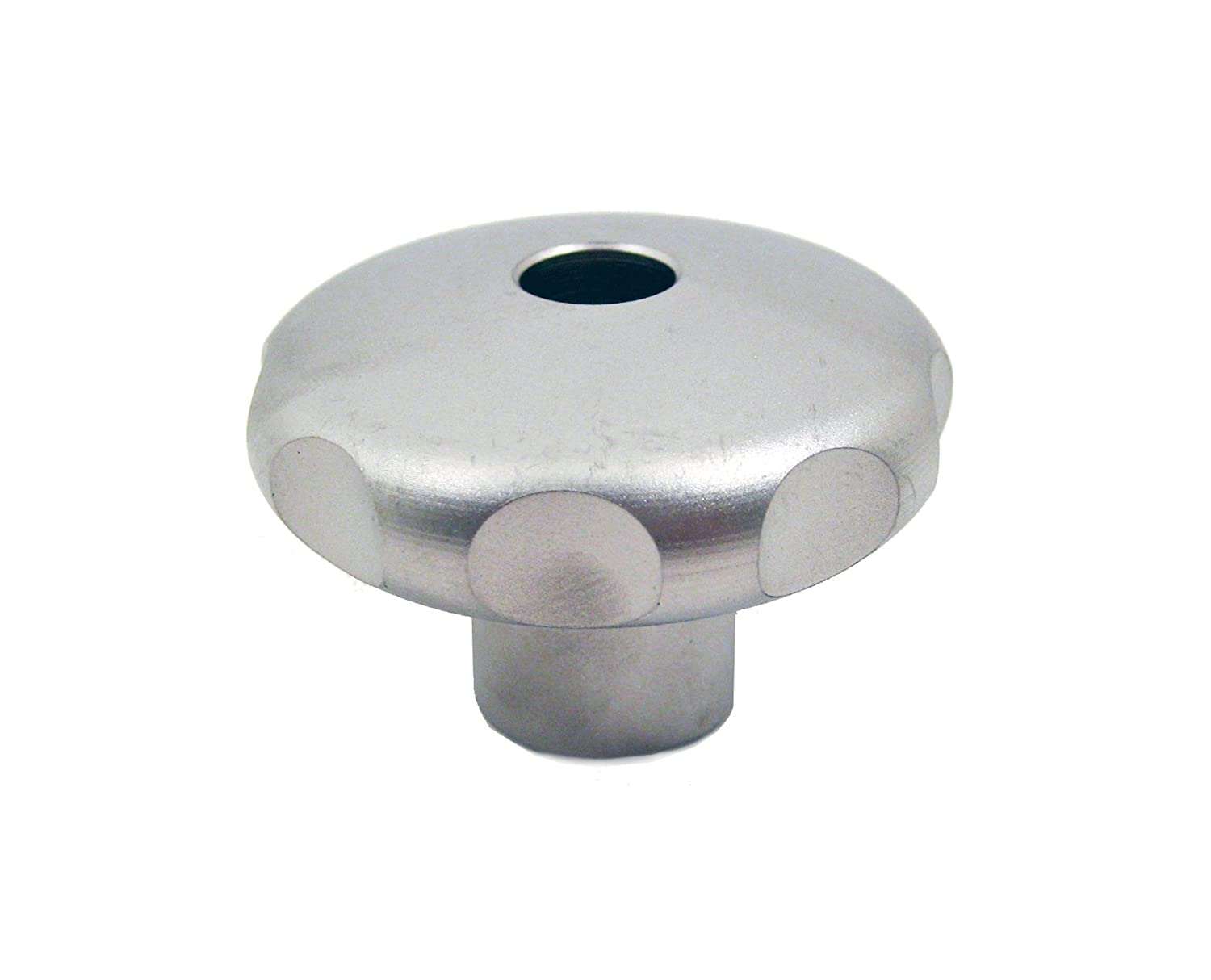 M10 x 1.5 Thread Size x 15mm Thread Depth Threaded Hole Pack of 1 50mm Head Diameter JW Winco Stainless Steel 303 Tapped Hand Knob