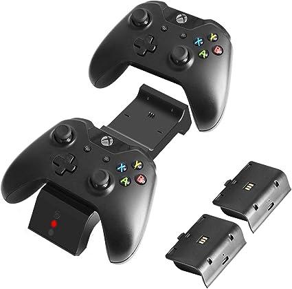 J&TOP - Cargador de Mando para Xbox One, One X, One S, One Elite ...